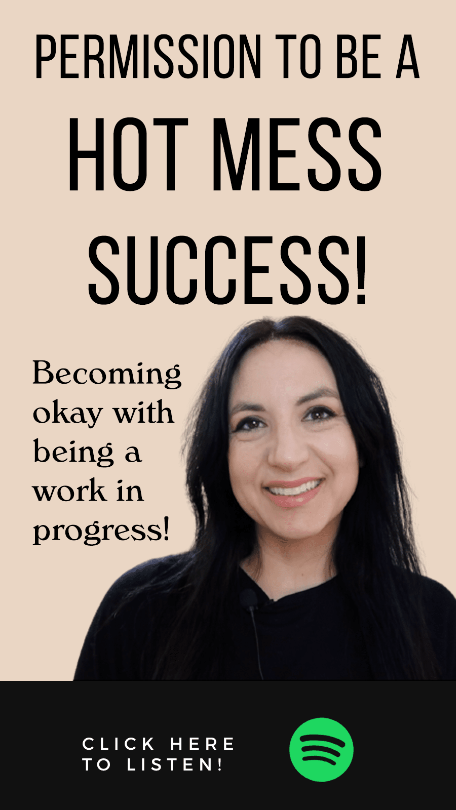 Jenn Stevens with text The Manifest Podcast Episode 38: Permission To Be A Hot Mess Success!