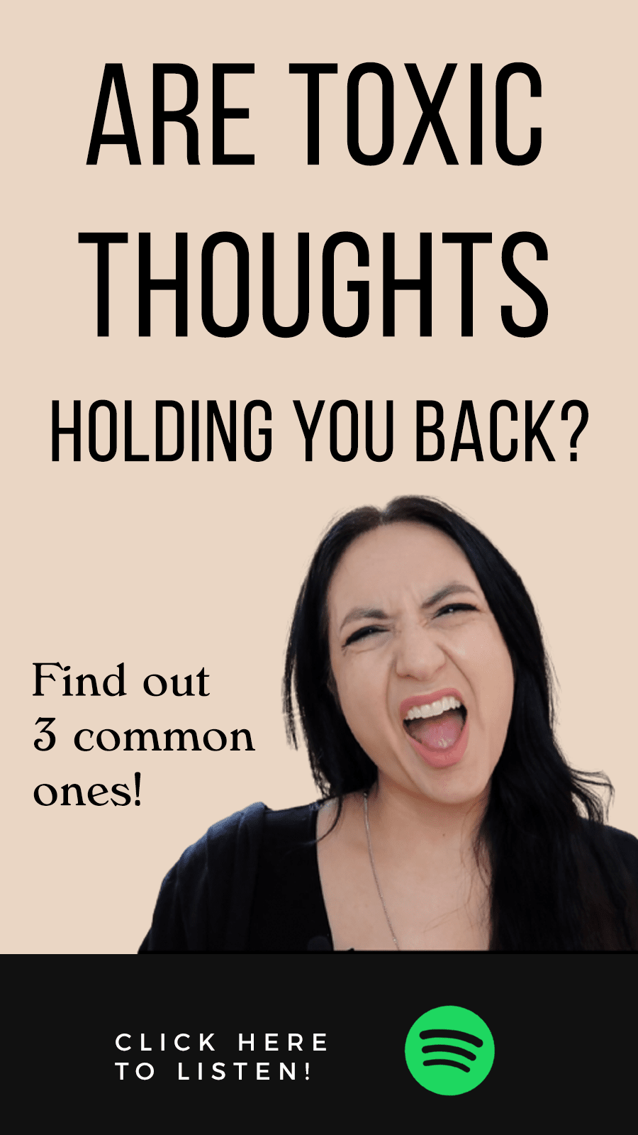 Jenn Stevens with text 3 Toxic Thoughts That Are Blocking Your Next Level