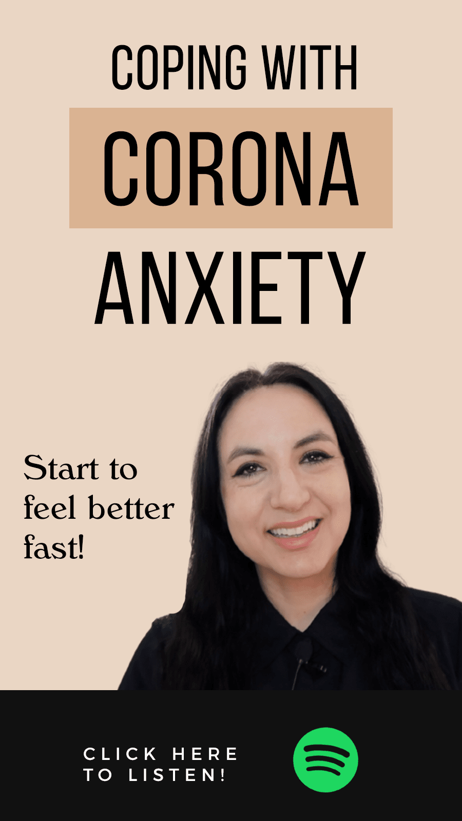 Jenn Stevens with text Episode 40: How To Cope With Corona Anxiety & Stress