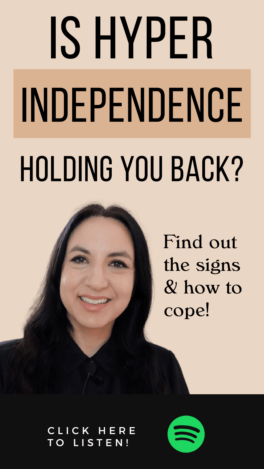 Jenn Stevens with text Episode 41: Is Hyper-Independence Holding You Back?